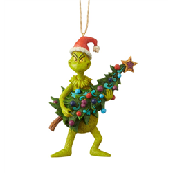 Ornament Holding Christmas Present - Grinch - 6004069