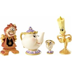 Enchanted Objects - Lumiere, Cogsworth, Mrs Potts & Chip - 4060076