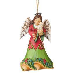 Angel with Cat Ornament