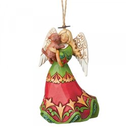 Angel with Dog Ornament