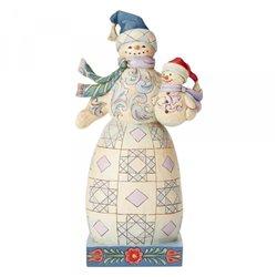 Bundled In Love (Snowman With Snowbaby) N