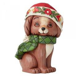 Christmas Puppy Mini Figurine