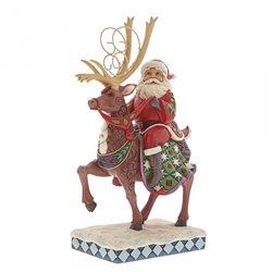 Dreams Delivered (Santa Riding Reindeer)