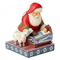 Even Kings Need Tucking In (Santa with Baby Jesus Figurine)