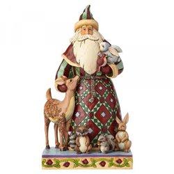 Santa's Creature Comforts (Santa with Woodland Animals)