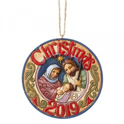 Holy Family 2019 Dated (Hanging Ornament)