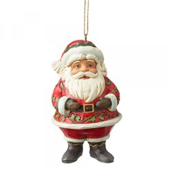 Mini Jolly Santa (Hanging Ornament)