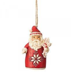 Nordic Noel Santa (Hanging Ornament)