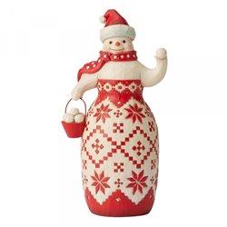 Ready, Set, Snowball Fight| (Nordic Noel Snowman Figurine)