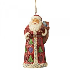 Santa with Toy Bag (Hanging Ornament)