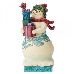 Share Some Love (Winter Wonderland Snowman with Gifts Figuri
