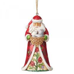 Santa with Cat Ornament