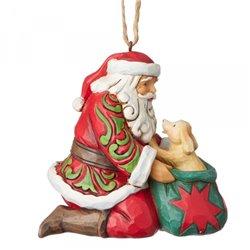 Santa with Dog Ornament