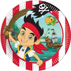 Bordjes 8 Stuks - Jake en de Nooit Gedacht Piraten