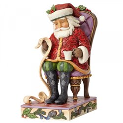 Christmas Wishes Granted (Santa Reading List in Chair)