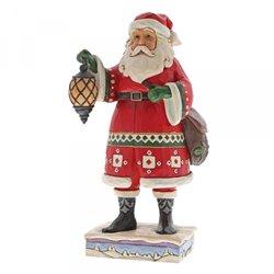Delivering December (Santa with Lantern and Satchel)