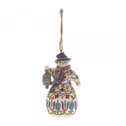 Victorian Snowman (Hanging ornament)