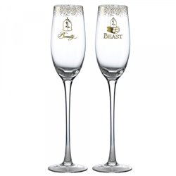 Wedding Toasting Glasses - Beauty & the Beast - A29335