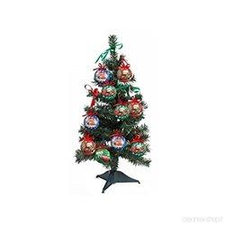 18 dlg Kerstboom met onbreekbare ornamenten 60cm - Cars II