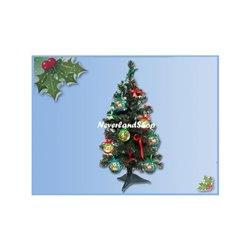 18 dlg Kerstboom met onbreekbare ornamenten 60cm - Pooh & Co II