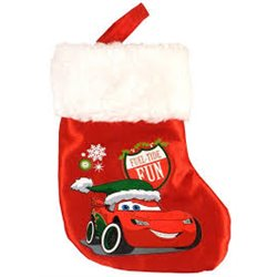 Bonte Mini Satin Kerstsok - Cars II