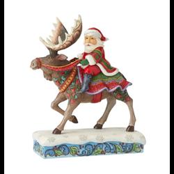 Santa Riding Moose - 6004133