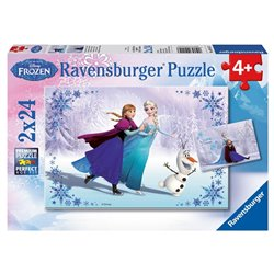 Puzzel 2 x 24 stuks - Frozen