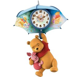 Blustery days  wall clock Pooh & Piglet