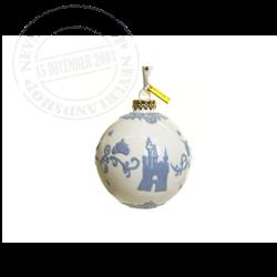 White/Lilac  Ceramic Ornament - Cinderella