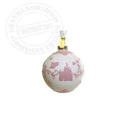 White/Pink  Ceramic Ornament - Sleeping Beauty