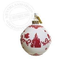 White/Red  Ceramic Ornament - The Little Mermaid