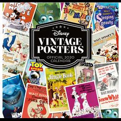 Vintage Poster Kalender 2020 - Disney
