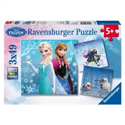 Puzzel 3Dlg  - Anna, Elsa, Sven, Kristoff & Olaf