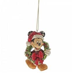 3D Ornament Christmas Wreath - Mickey - A30355