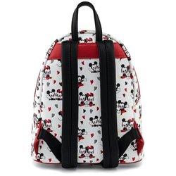 Loungefly Mini Backpack Heart AOP - Mickey & Minnie - WDBK1449