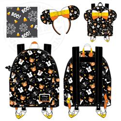 Loungefly Mini Backpack & Headband Spooky - Mickey & Minnie - WDBKS0010