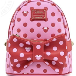 Loungefly Pink Bow 2 in 1 Fanny/Mini Backpack - Minnie - WDBK1441
