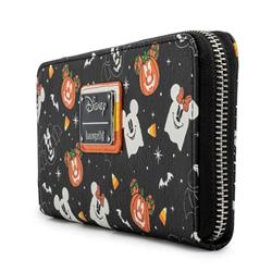 Loungefly Ziparound Wallet Spooky - Mickey & Minnie - WDWA1754